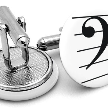 Bass Clef Cufflinks