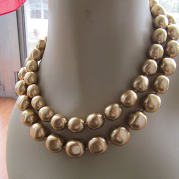 1970 Carolee necklace, chunky pearl necklace, collectible gifts