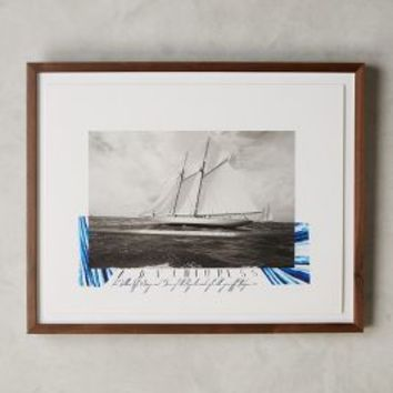 Max Imrie Regatta Wall Art in Black & White Size: One Size Decor