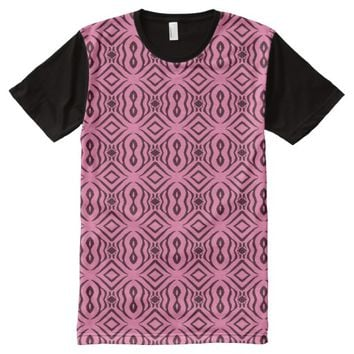 Pink Animal Pattern#14c American Apparel Buy Sale All-Over-Print T-Shirt