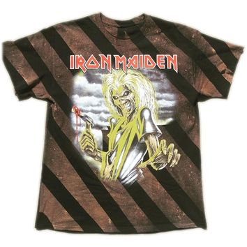 Striped Hand Bleached Led Zeppelin Band Tee