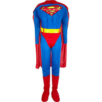 River Island Boys blue Superman costume