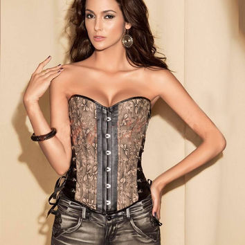 Shaper Sexy Waist Body Palace Slim Vintage Leather Luxury Corset [4965290884]