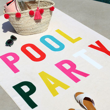 ban.do Beach, Please! Pool Party Cream Giant Beach Towel