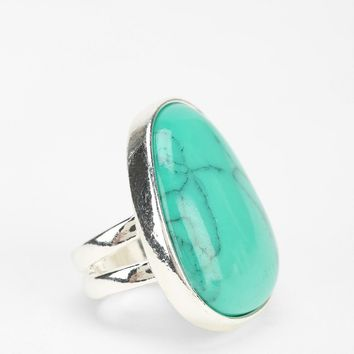 Marbled Turquoise Ring - Urban Outfitters