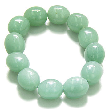 Amulet Healing Green Quartz Tumbled Crystals Gemstone Bracelet