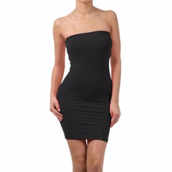 Seamless Strapless skirt Off the Shoulder Slim skirts Stretch Tight Party Club Body-con Elastic Tube Mini skirts 2017