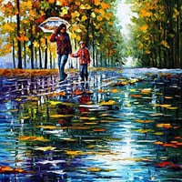 "Stroll In The Autumn Park  — Oil Painting On Canvas By Leonid Afremov.  30""x40"""