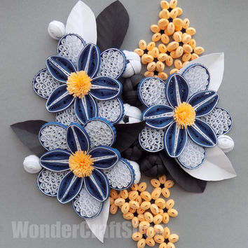 Shop paper quilling flowers on wanelo modern office decor flower wall art kitchen decor floral gift new house mightylinksfo