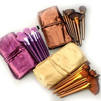 21Pcs Pale Violet 3-color Makeup Brush Sets [9647074575]