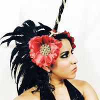 Flamingo Unicorn head piece / burning man/ EDC / Coachella / rave outfit / hair piece / tomorrowworld