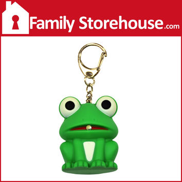 Frog Keychain with LED Light