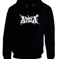 Attila Logo Black And White Hoodie