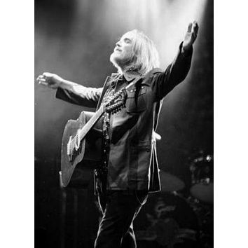 "Tom Petty Poster Black and White Poster 16""x24"""