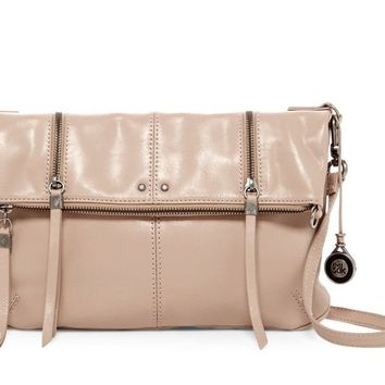 Sanibel Foldover Convertible Cross Body bag shitake leather
