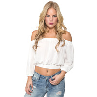 Senorita Off Shoulder Top in White