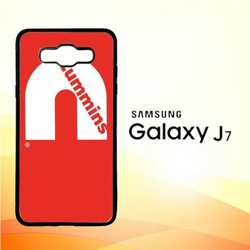 Cummins Logo V0407 Samsung Galaxy J7 Edition 2015 SM-J700 Case