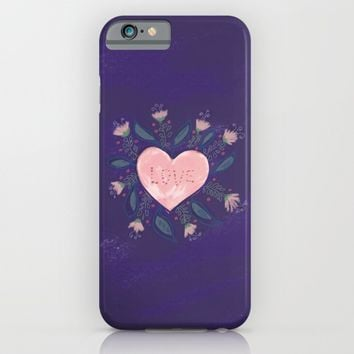 Hand-Illustrated Valentine's Day Heart iPhone & iPod Case by Yaansoon | Society6