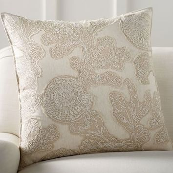 Shell Applique Pillow Cover