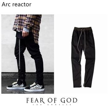 Arc reactor Fear of God Sweatpants 1:1 High Quality Drawstring Tracksuit Joggers FOG Sweat Pants Popular Fear of God Sweatpants