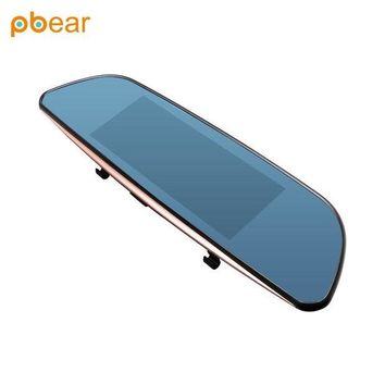 ac NOOW2 Pbear Car Dvr Mirror 7 inch Dash Cam Recorder Rearview Cameras Parking Rear View Dual Lens Video Camcorde With GPS Touch screen