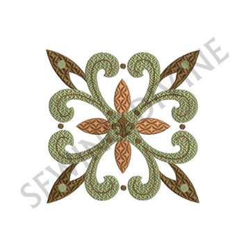 FLEUR de lis QUILT BLOCK Embroidery Decorative Design 4x4 5x7 6x10 Hoops Sizes Textured Instant Download