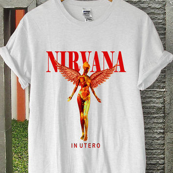 nirvana shirt nirvana in utero shirt nirvana in utero tshirt nirvana in utero sweatshirt nirvana in t-utero shirt unisex and female S-XL