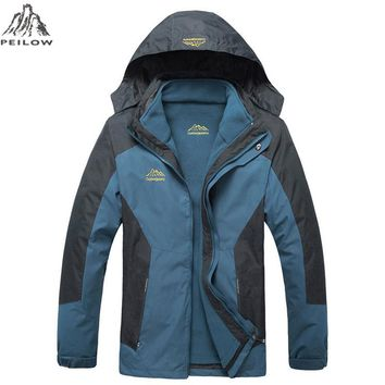 clothing Men jacket two PCs set Parkas coats winter outwear Windbreaker Waterproof male jackets
