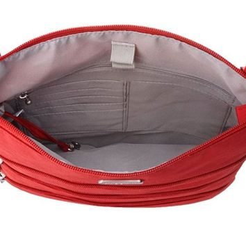 Baggallini Big Zipper Bagg Apple Red & Cloud