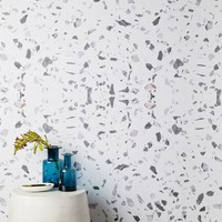 Chasing Paper Speckled Marble Wallpaper - White