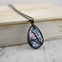Tree Branch Teardrop Necklace