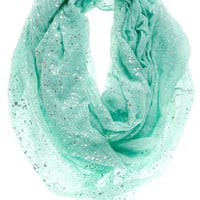 AURORA METALLIC LOOP SCARF