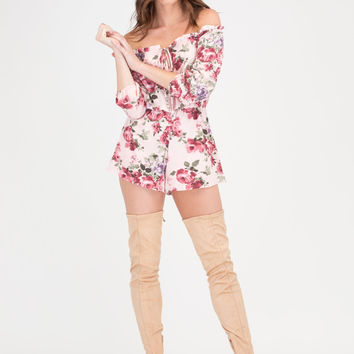 Picked Fresh Floral Off-Shoulder Romper
