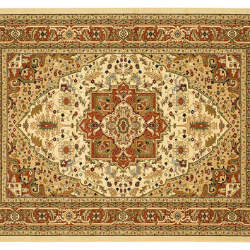 Perth Rug, Ivory/Rust, Area Rugs