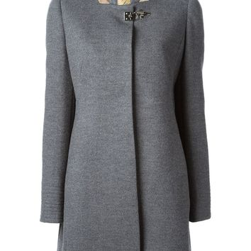 Fay stand-up collar buckled coat