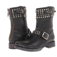 Frye Veronica Biker Zip Black Stone Wash - Zappos.com Free Shipping BOTH Ways