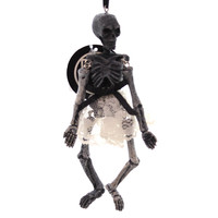 Halloween MADAME SKELETON ORNAMENT Polyresin Lace Skirt Indoor Use 4038094 GRAY