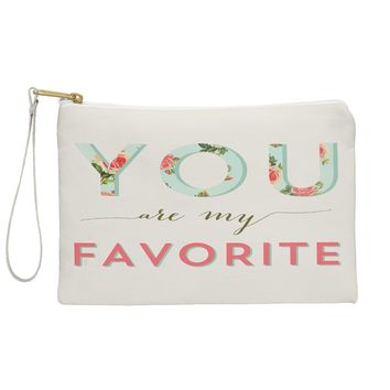 Allyson Johnson Floral You Are My Favorite Pouch