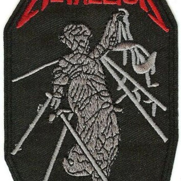 Metallica Iron-On Patch And Justice For All Red Logo