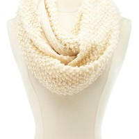 Open Knit Infinity Scarf by Charlotte Russe - Pale Blush