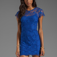 keepsake Love Magic Dress in Cobalt Lace from REVOLVEclothing.com