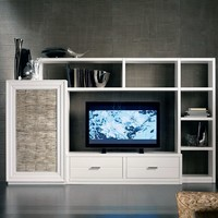 Sectional silver leaf storage wall ÉTOILE day Collection by Cantiero   design Arbet Design