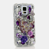 Purple and Clear Butterfly Design (style 778)