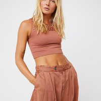 Free People Seamless Textured Cropped Bra