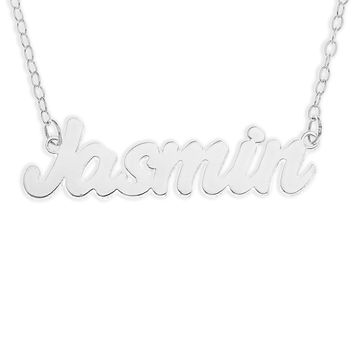 NAME NECKLACE BOLD FONT - STERLING SILVER