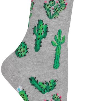 Cactus Flower Women's Crew Socks