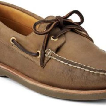 Sperry Top-Sider Gold Cup Authentic Original 2-Eye Boat Shoe DarkTan, Size 9.5W  Men's Shoes