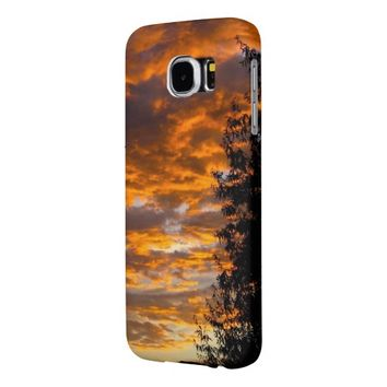 Orange Sunset Samsung Galaxy S6 Case Samsung Galaxy S6 Cases