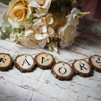 Log Slice Wedding Favors Table Sign