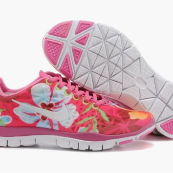 """NIKE"" Women's Trending Fashion Casual Flower Print Pink Sports Shoes"